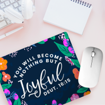 Joyful Mousepad on pink