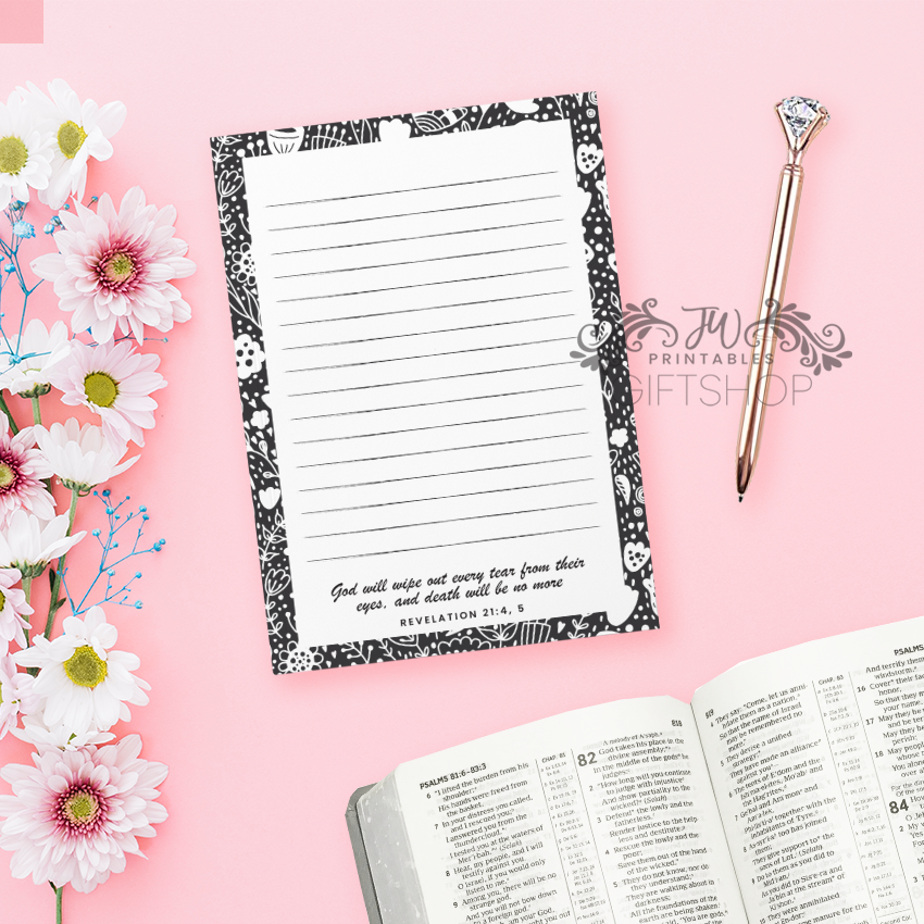Wipe Every Tear Letter Writing Notepad
